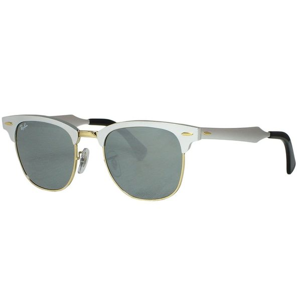 8c520a5c2cf67 ... spain ray ban clubmaster aluminum rb3057 unisex silver frame silver  mirror lens sunglasses f23aa abbba