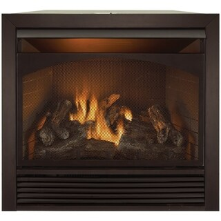 Duluth Forge Dual Fuel Ventless Fireplace Insert - 32,000 BTU, Remote Control