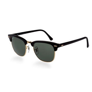 Ray Ban Clubmaster RB3016 Unisex Black Frame Green Lens Sunglasses