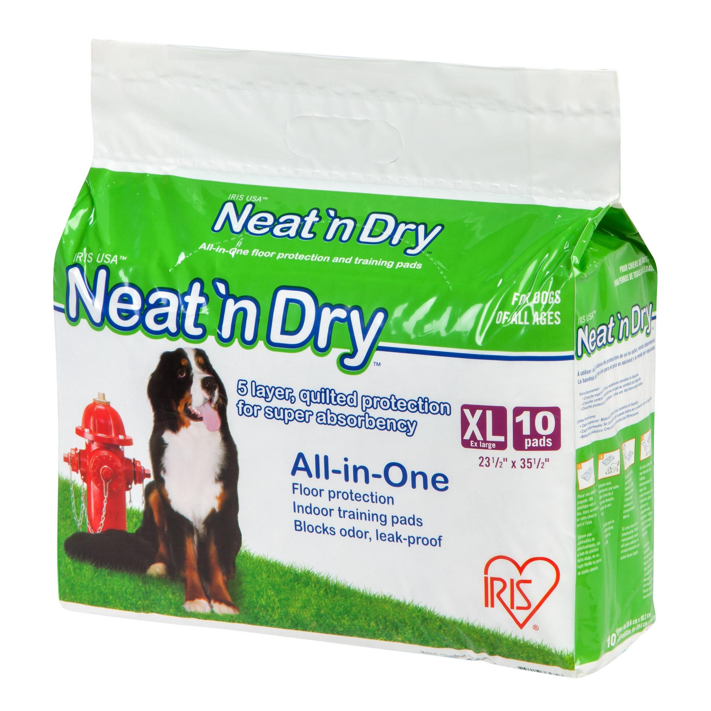 IRIS Neat 'n Dry Premium Pet Training Pads, Extra Large, ...