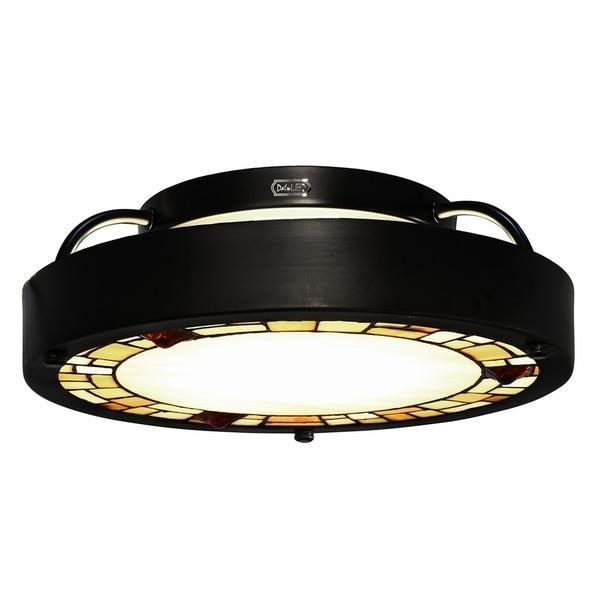 "Dale Tiffany Select 13.5""W LED Vintage Semi-Flush Mount"
