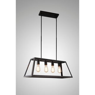 Y-Decor Boxie 4 Light Pendant Light in Oil Rubbed Bronze - Oil Rubbed bronze