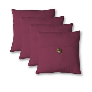 Essex Button 18 Inch Decorative Throw Pillow Set of 4|https://ak1.ostkcdn.com/images/products/17116375/P23384988.jpg?impolicy=medium