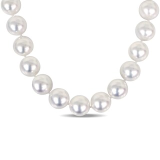 Miadora Signature Collection 14k White Gold South Sea Pearl Necklace (15-15.8mm)