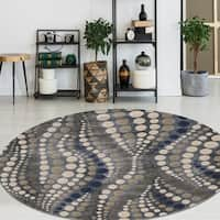 Isabel Style Grey Area Rug By Admire Home Living - 5'3 round
