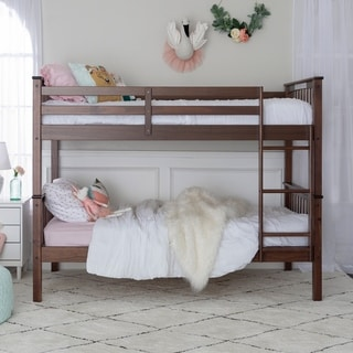 Twin over Twin Solid Wood Mission Design Bunk Bed