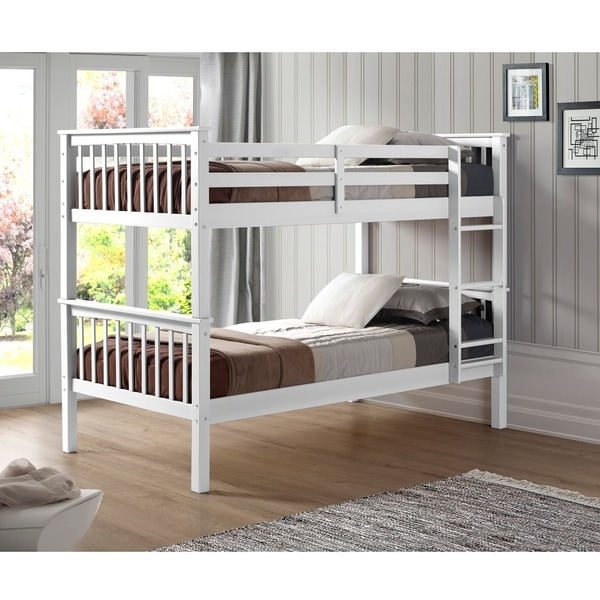Shop Twin Over Twin Solid Wood Bunk Bed On Sale Free Shipping