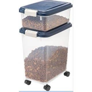 IRIS Airtight Pet Food / Treat Storage Container Combo|https://ak1.ostkcdn.com/images/products/17116784/P23385365.jpg?impolicy=medium