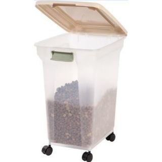 Link to IRIS 55 qt. Airtight Pet Food Container Similar Items in Dog Feeders & Waterers