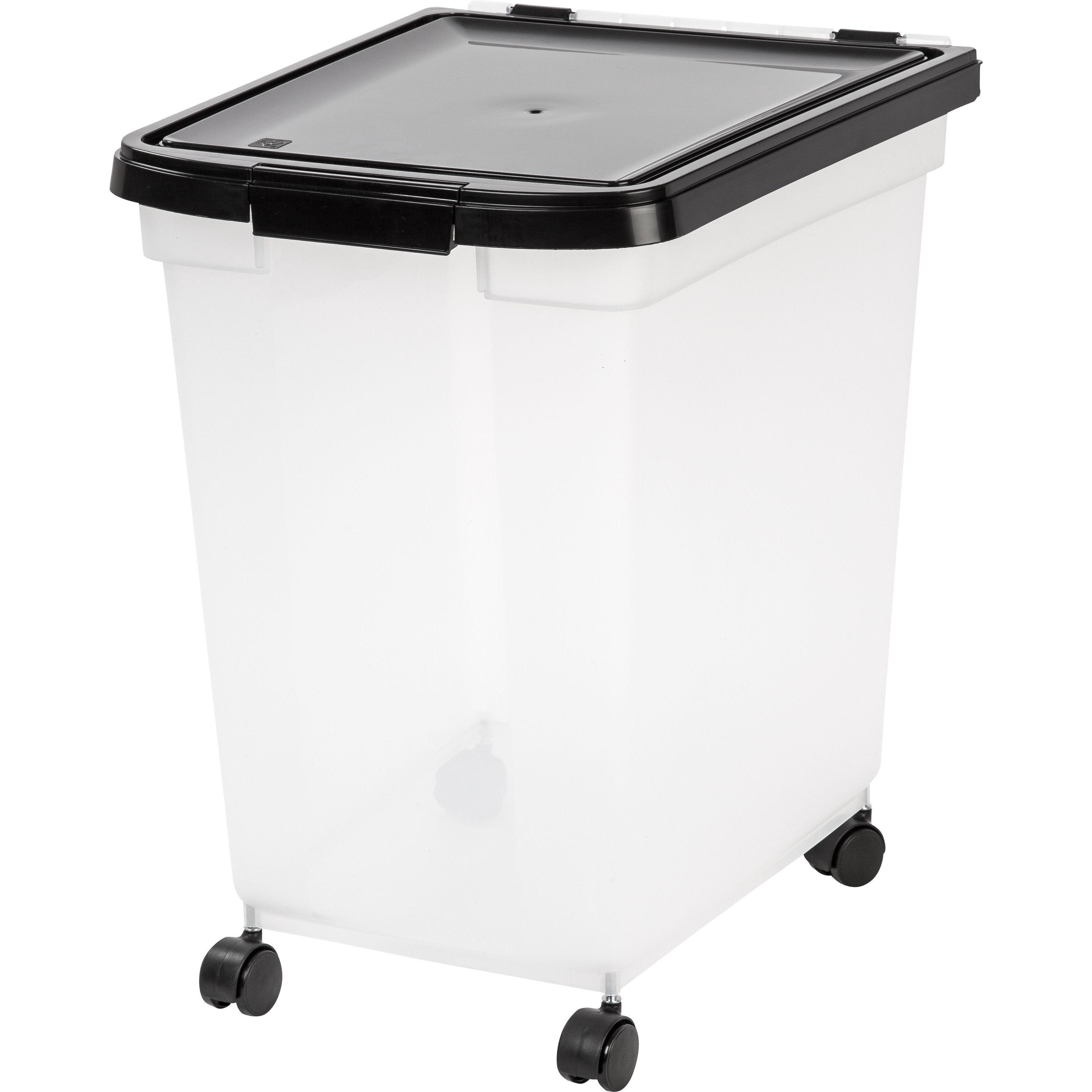 IRIS 65 Quart Airtight Pet Food Container (Black)
