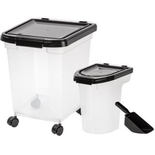 IRIS 3-piece Airtight Food Container Combo (Option: Black)