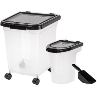 Link to IRIS 3-Piece Airtight Food Container Combo Similar Items in Dog Feeders & Waterers
