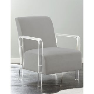 Truitt Acrylic and Microfiber Arm Chair by Greyson Living