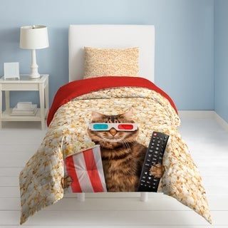 Dream Factory Movie Cat 3-piece Comforter Set (2 options available)