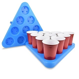 GoPong N-Ice Rack Freezable Beer Pong Rack Set with 2 Racks, 3 Balls, and Rules