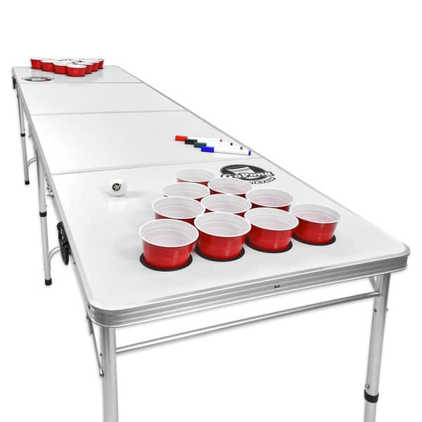 Shop Gopong 8 Foot Folding Beer Pong Table With Customizable