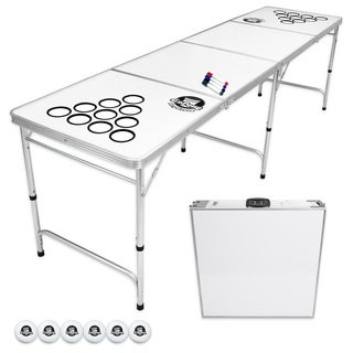 GoPong 8-foot Folding Beer Pong Table With Customizable Dry Erase Surface