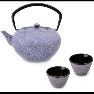 Studio Cast Iron Teapot Set Purple: Teapot & 2 Cups