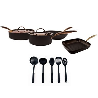 Ouro Black 11pc Hard Anodized Starter Set
