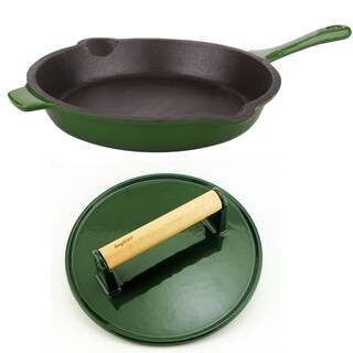 Neo Cast Iron 2pc Set, F/P & Stk Press, Green
