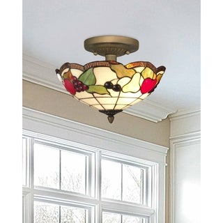 "Springdale 14""W Fruits Semi Flush Mount"