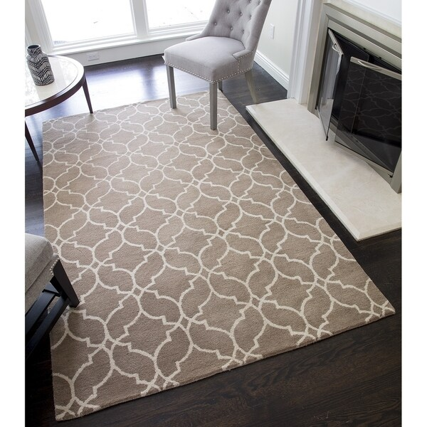 Rochelle Hand-Tufted Wool Links Rug (5'0 x 8'0) - 5-ft 0-in x 8-ft 0-in