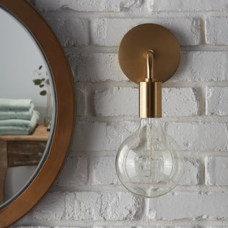 Mitzi by Hudson Valley Ava 1-light Polished Copper Wall Sconce in Style B