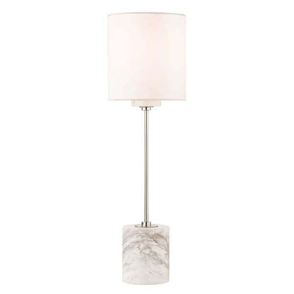 Shop mitzi by hudson valley fiona 1 light polished nickel table lamp mitzi by hudson valley fiona 1 light polished nickel table lamp faux silk shade aloadofball Images