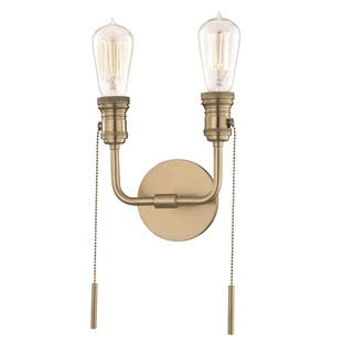 Mitzi by Hudson Valley Lexi 2-light Aged Brass ADA Wall Sconce https://ak1.ostkcdn.com/images/products/17117678/P23385878.jpg?impolicy=medium