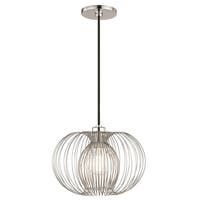 Mitzi by Hudson Valley Jasmine 1-light Polished Nickel 12-inch Pendant - Silver