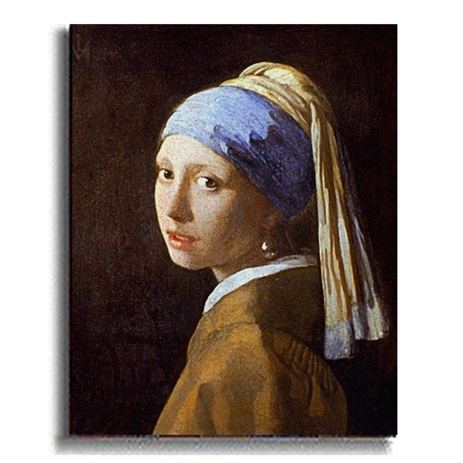 Girl with Pearl Earring - Vermeer Stretched Canvas