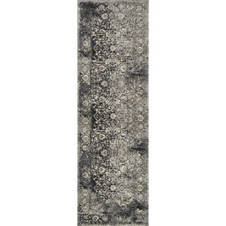 Brently Black/ Ivory Runner Rug (2'5 x 7'7)