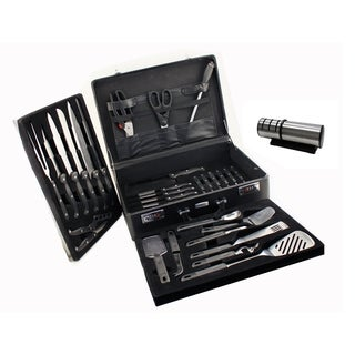 Geminis 32 pc Cutlery Set/ Case & Diamond Sharpener