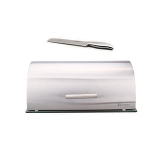 Bread 2pc Set: (Glss Bread Bin & Gem Bread Knife