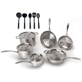 Professional 15pc 18/10 SS Cookware Set/ 5pc Nylon Tool Set