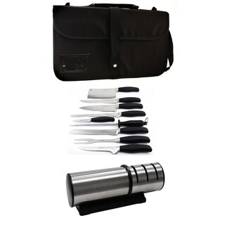 Forged 10pc Cutlery Set/ Diamond Sharpener