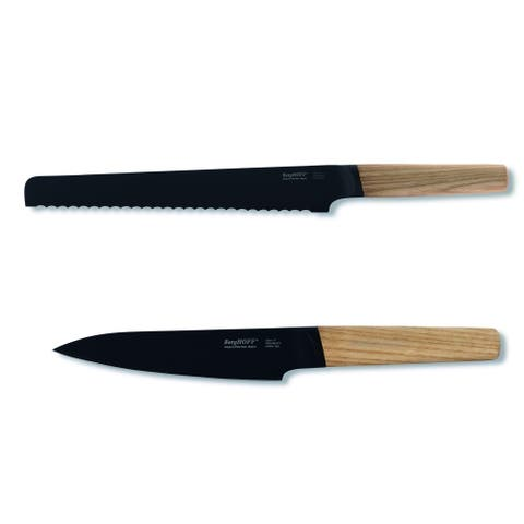 Ron 2pc Cutlery Set: Bread & Utility, Natural