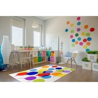 Kids Ballon Non-Slip Multi Area Rug (5' X 7') - 5' x 7'