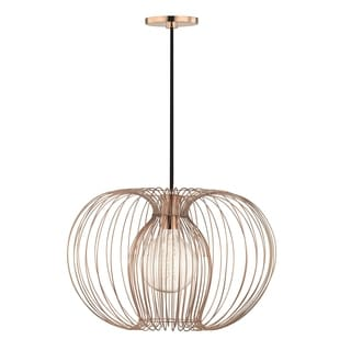 Mitzi by Hudson Valley Jasmine 1-light Polished Copper 17-inch Pendant