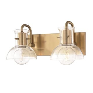 Mitzi by Hudson Valley Riley 2-light Aged Brass Bath Light, Clear Glass https://ak1.ostkcdn.com/images/products/17118886/P23387015.jpg?impolicy=medium