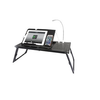 Portable Lightweight Adjustable Charging Table/Bed Tray for Tablet or Smartphone