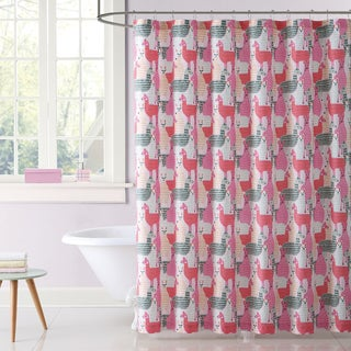 Laura Hart Kids Llama Llama Printed Shower Curtain