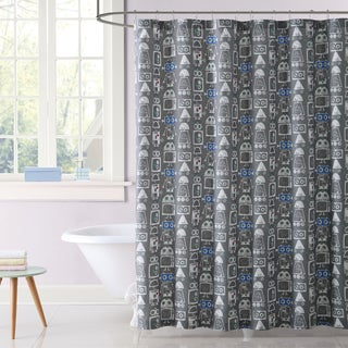 Laura Hart Kids Roboto Printed Shower Curtain