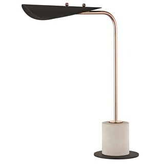 Mitzi by Hudson Valley Layla LED Polished Copper Table Lamp with Black Accents