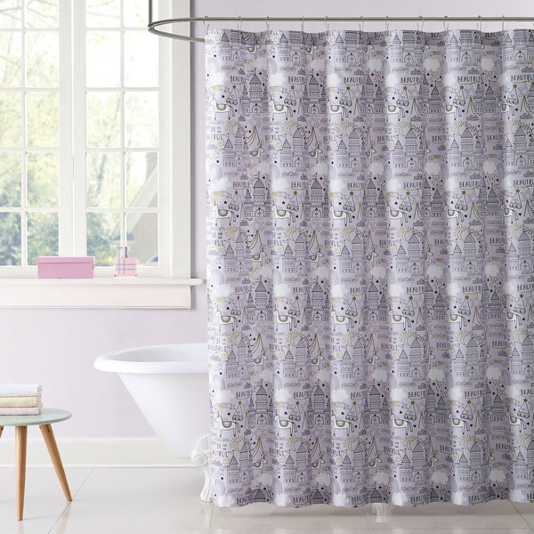 Laura Hart Kids Unicorn Princess Printed Shower Curtain