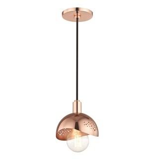 Mitzi by Hudson Valley Heidi 1-light Polished Copper Pendant