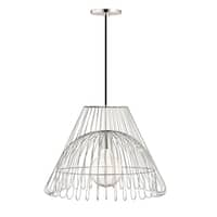 Mitzi by Hudson Valley Katie 1-light Polished Nickel 18-inch Pendant