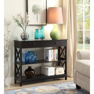 convenience concepts oxford 1 drawer console table