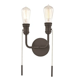 Mitzi by Hudson Valley Lexi 2-light Old Bronze ADA Wall Sconce