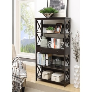 Convenience Concepts Oxford 5 Tier Bookcase with Drawer
